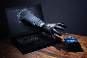 Hacking reaching for wallet